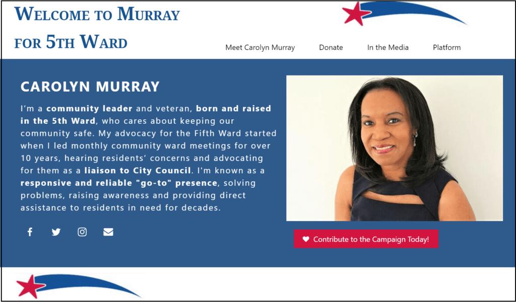 Carolyn Murray - Murreyfor4 homepage image